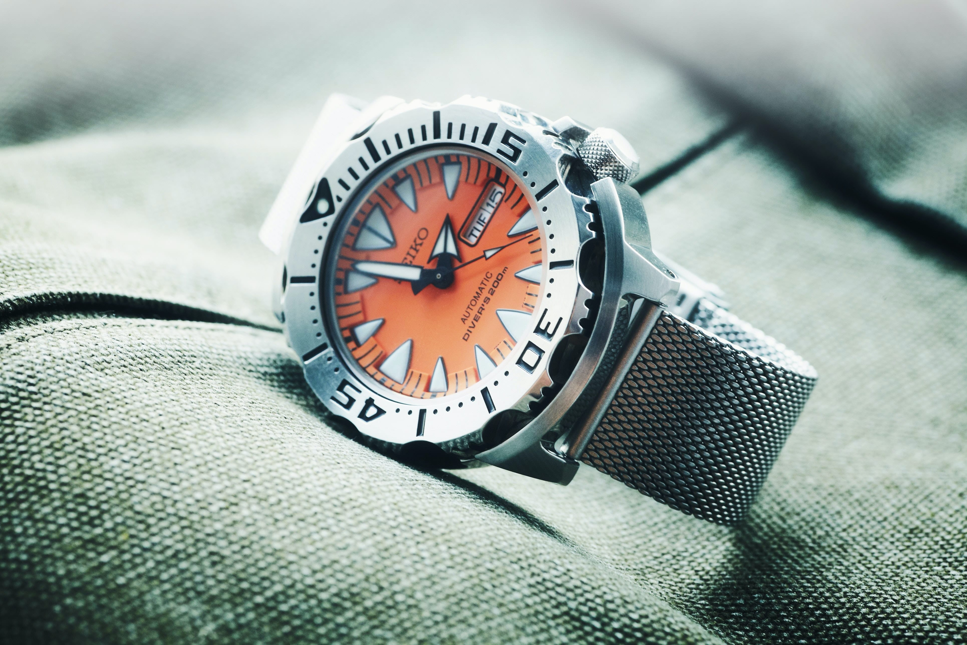 Image of a seiko dive watch