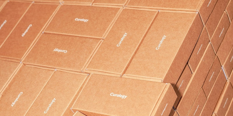 A completed kitting and packaging fulfilment service consisting of a palette of boxes