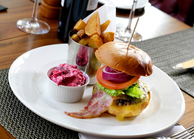 Burger at Scottish Steakhouse