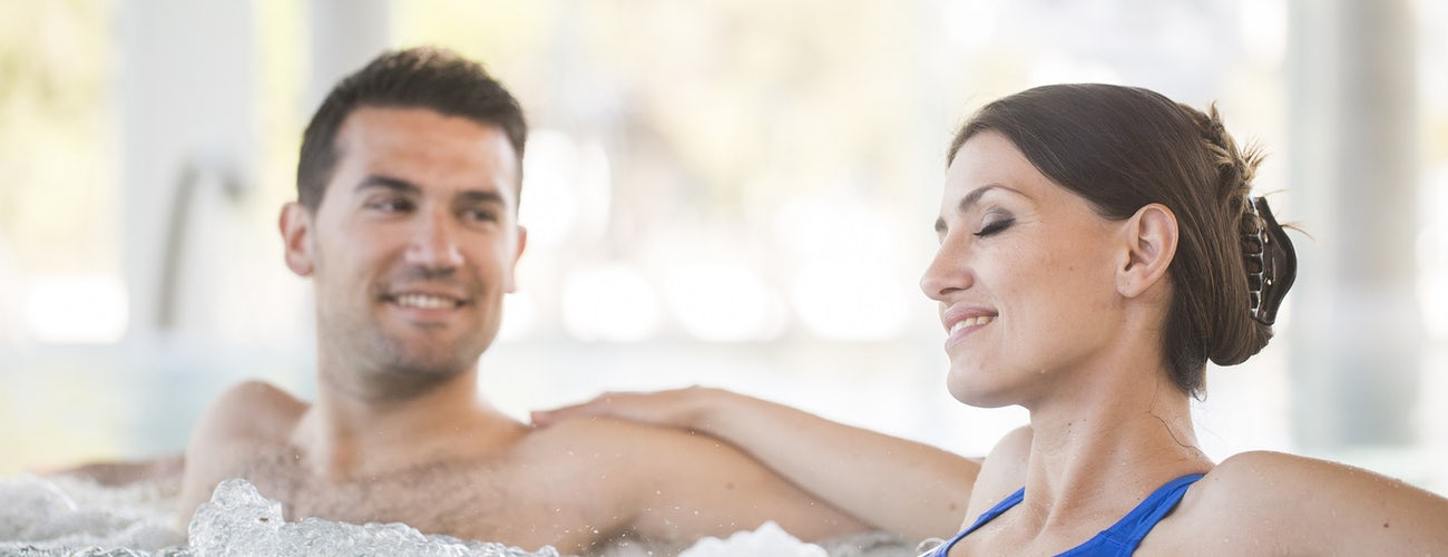 Couple in whirlpool