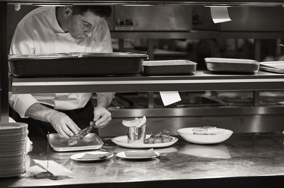 Chef at the pass