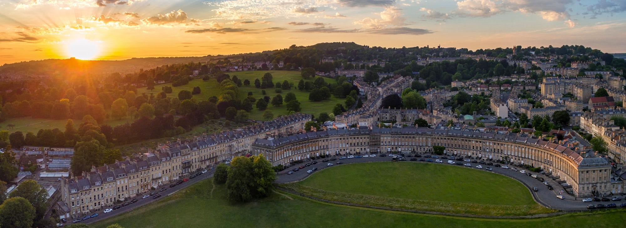 Sunset over Bath