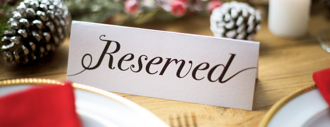 Christmas Day Reserved Table