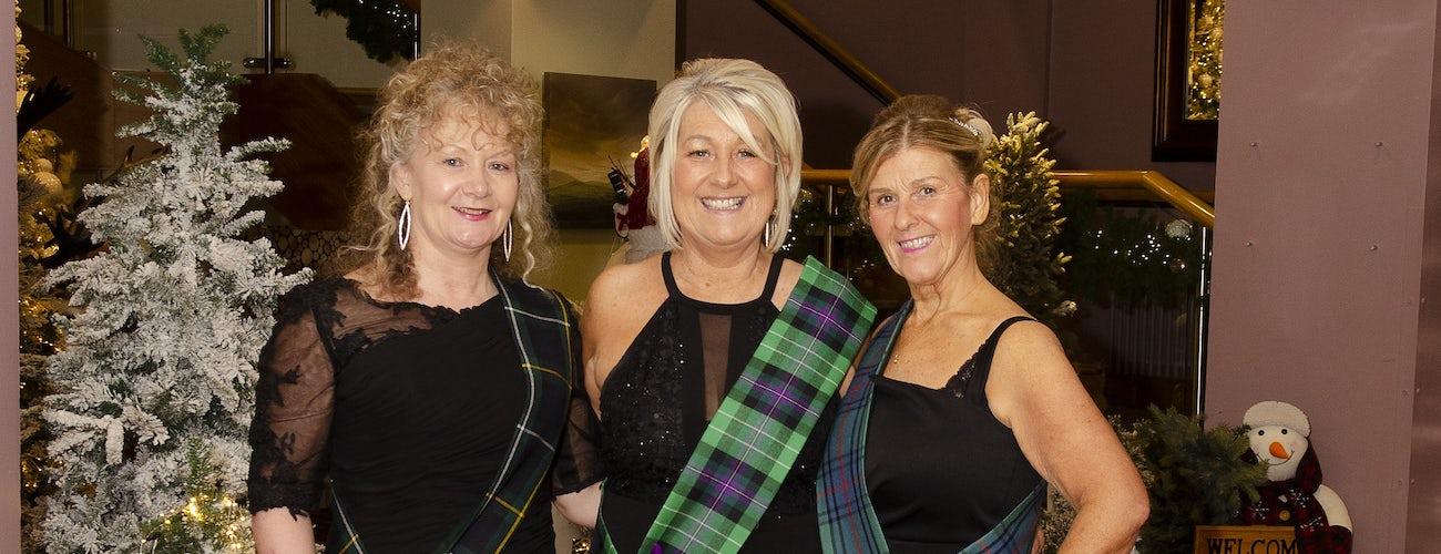 Ladies at Hogmanay in Aviemore