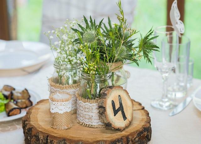 Woodland Table Centre Weddings