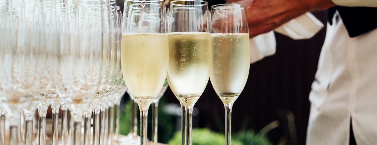 Champagne Reception in Summer