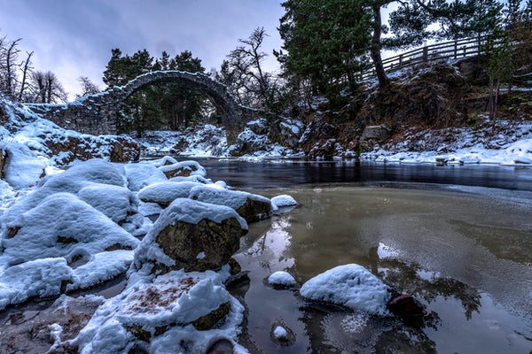 Aviemore snow scene