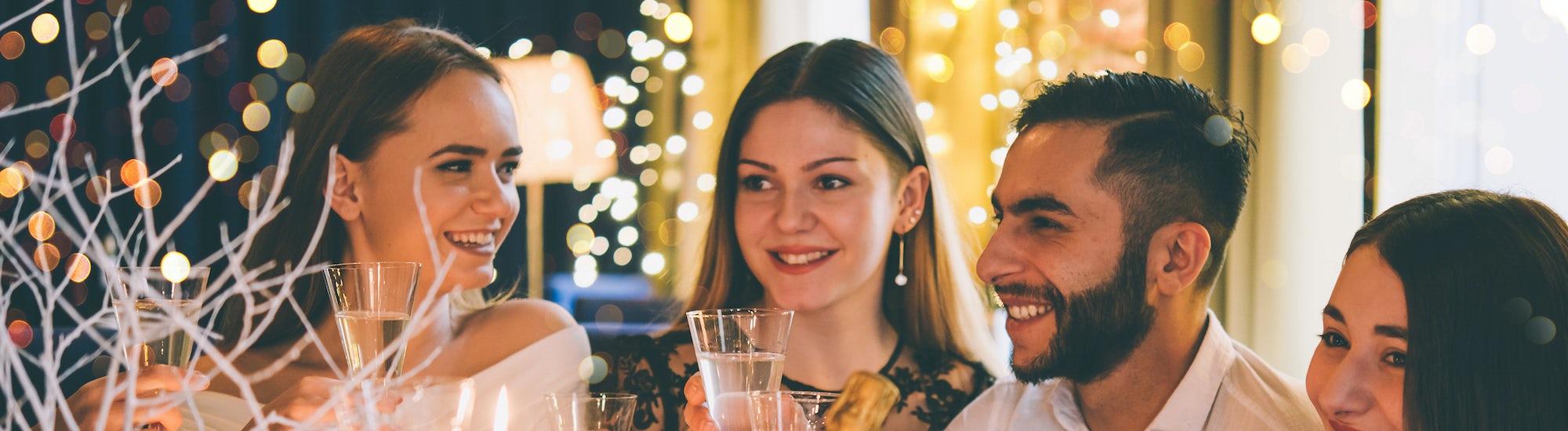 New Year celebration drinks