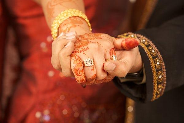 Asian Wedding Bride & Groom