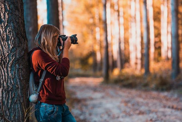 Photographer Autumn Forest