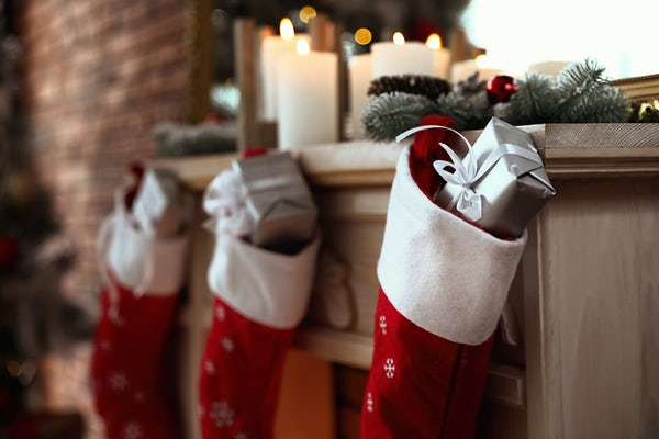 Stockings with presents