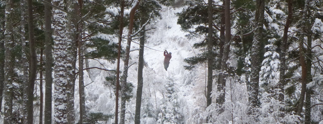 Zip Park Aviemore in Winter