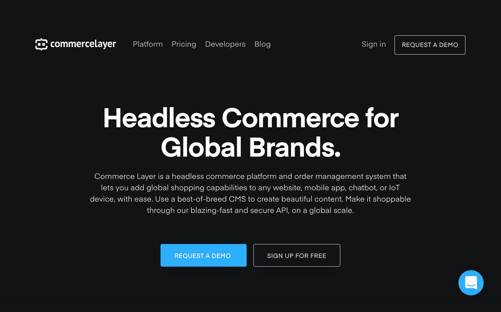 Commerce Layer homepage