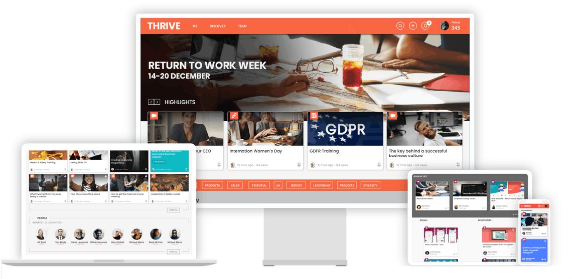THRIVE Learning Experience Platform across devices
