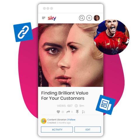 Sky learning experience platform