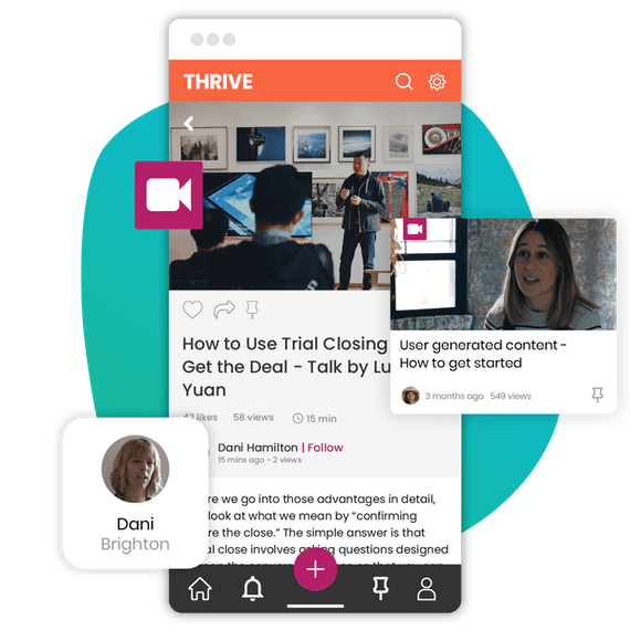 THRIVE Learning Experience Platform on Mobile