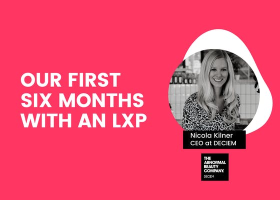 Our first six months with an LXP webinar