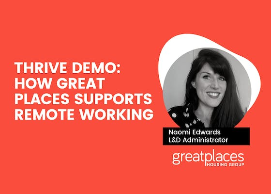 THRIVE demo: How Great Places supports remote working