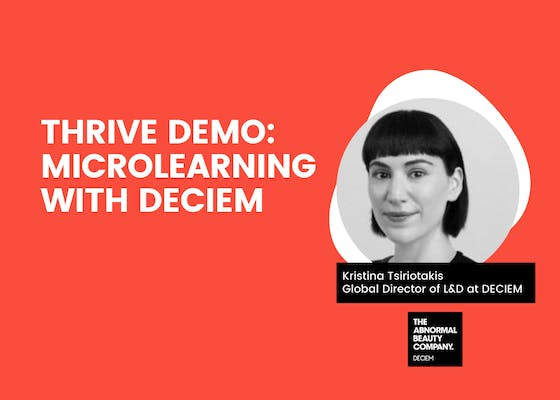 THRIVE demo: Microlearning with DECIEM