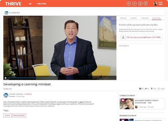 LinkedIn Learning auto curation