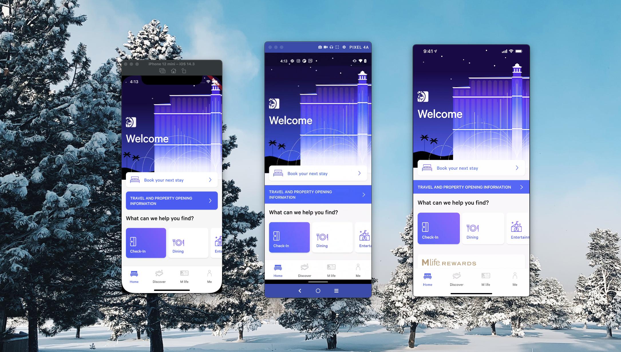 Mobile app UI demos