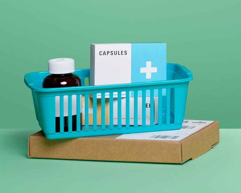Basket of medicines