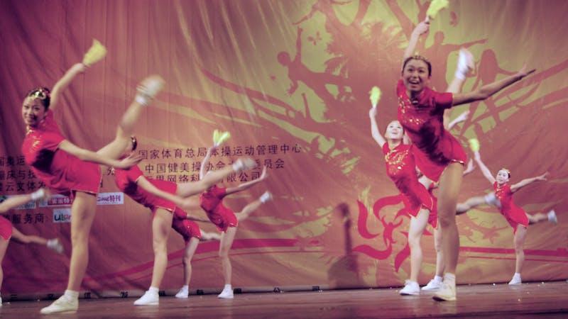 Cheerleader für Olympia