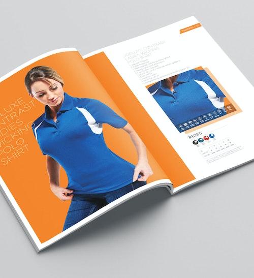 Catalogue design, artwork, and retouching