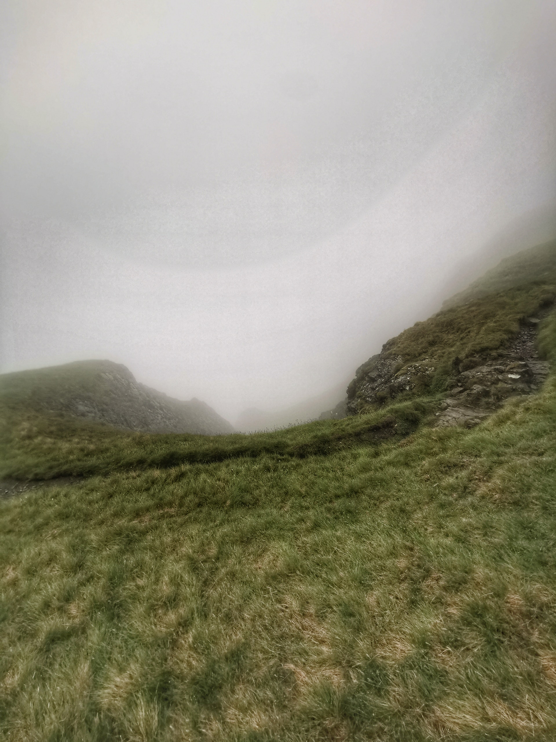 Sheer Drop between Bannerdale Crag and Bowscale Fell