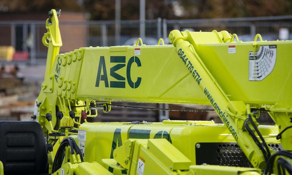 AMC crane stowed away