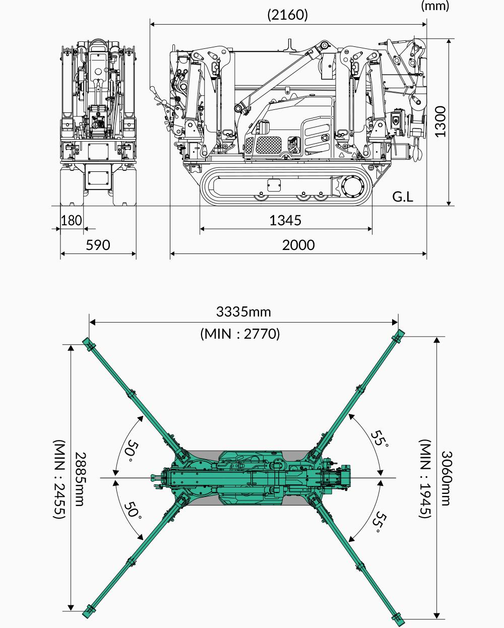 Maeda MC174 Dimensions