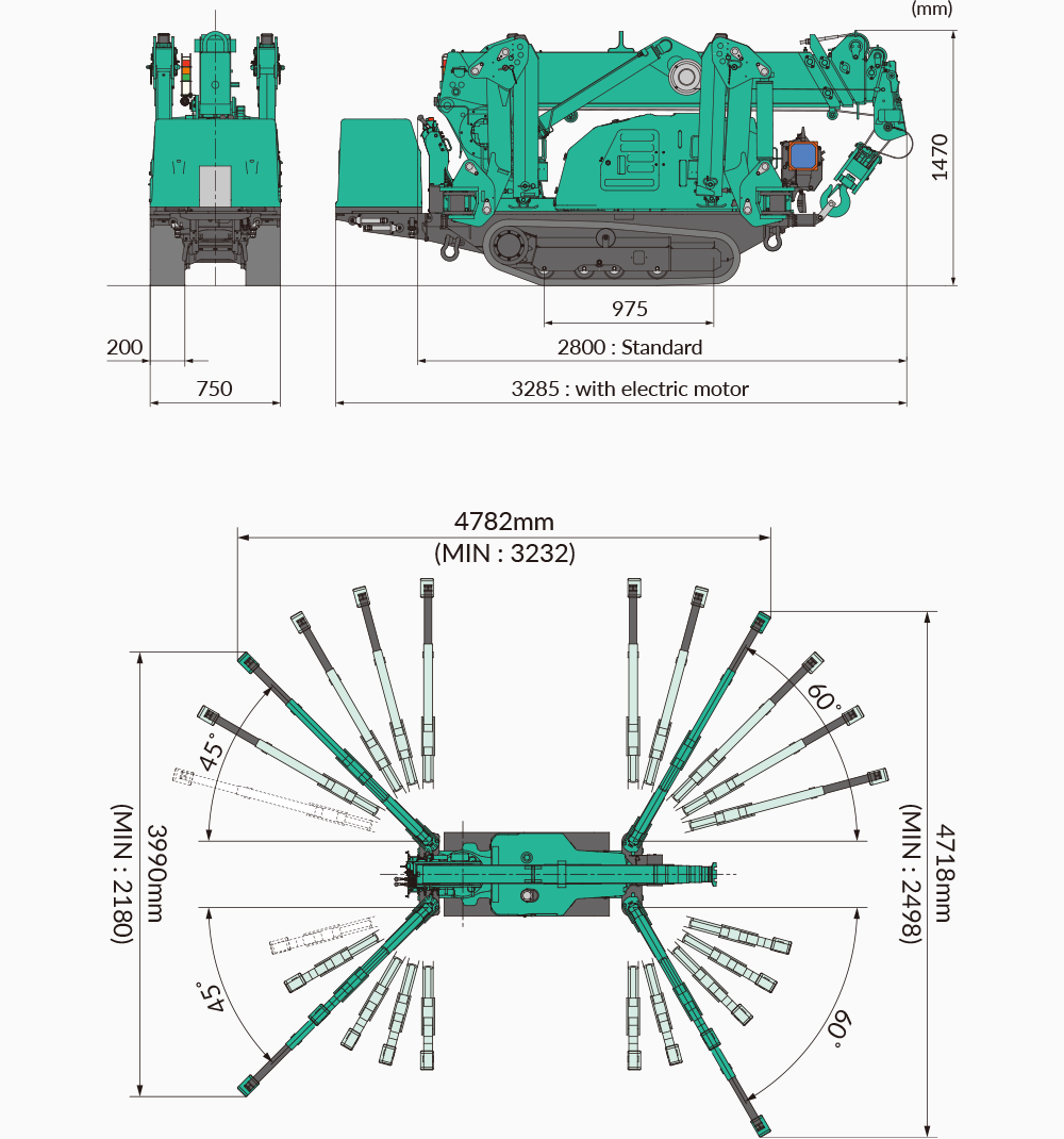 Maeda MC285 Dimensions