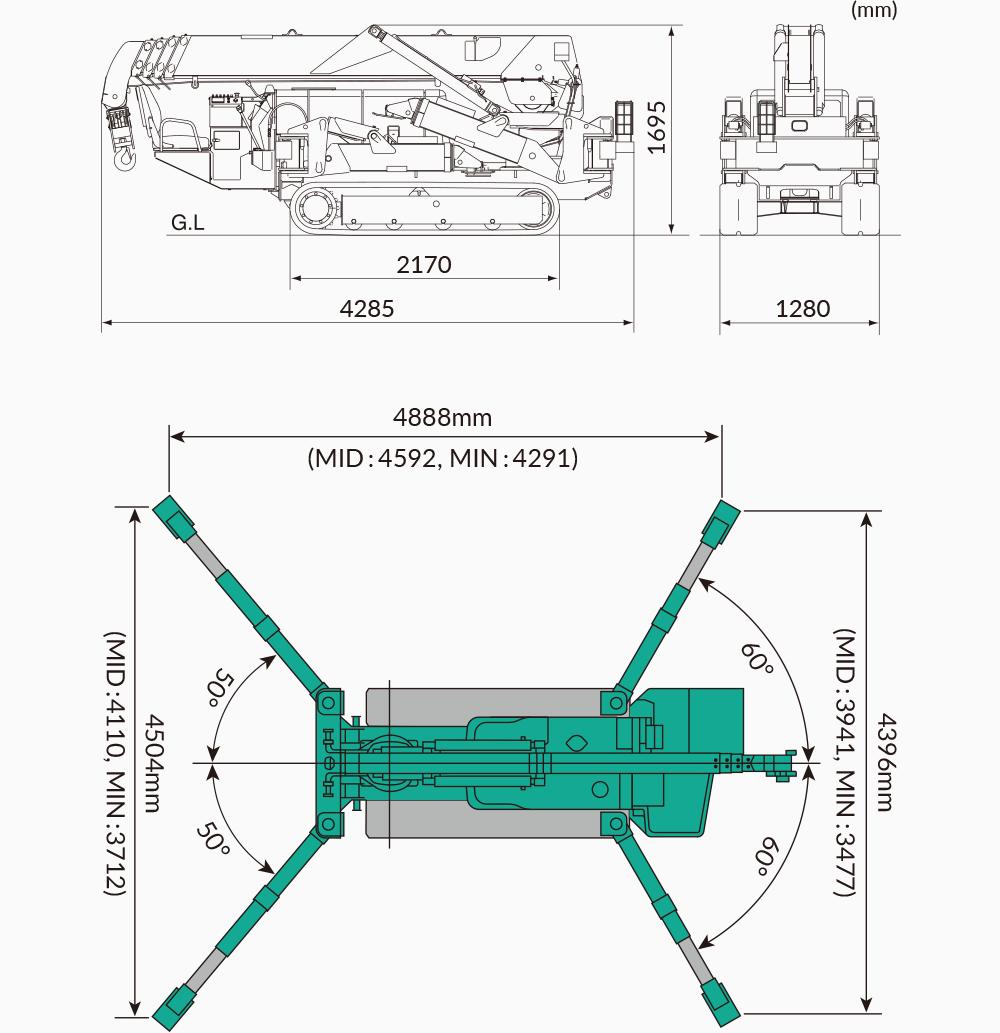 Maeda MC305 Dimensions