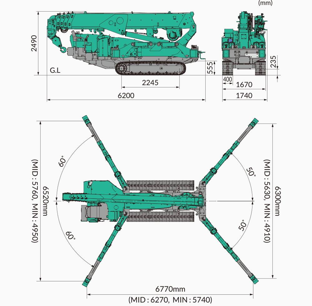 Maeda MC815 Dimensions