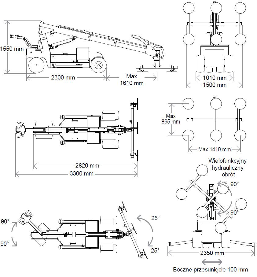 Smartlift SL780 Dimensions