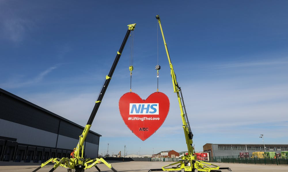 AMC Lift Giant Red Heart For R Charity
