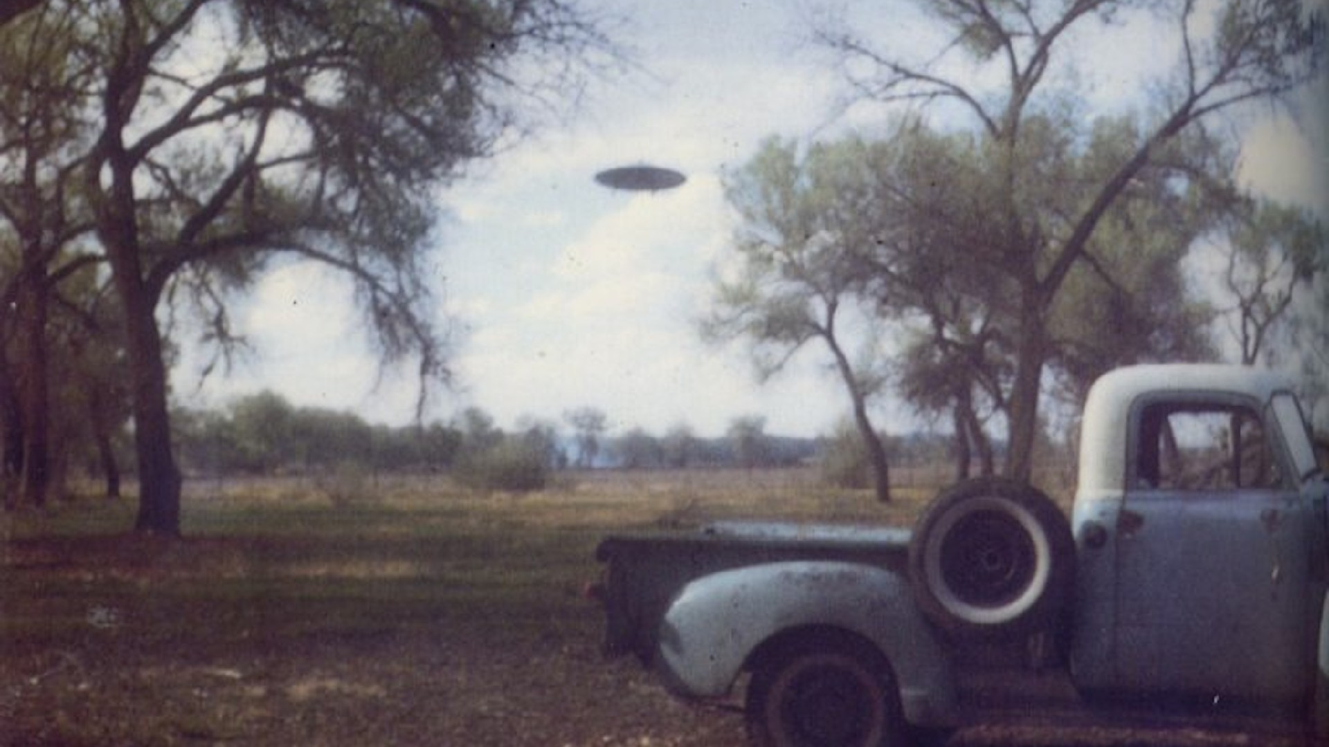 Ronnie van Hout, 'Found UFO image', 2015 Archival inkjet print on Hahnemuhle Photo Rag Baryta 45 x60 cm. Courtesy of Bus Projects, Melbourne.