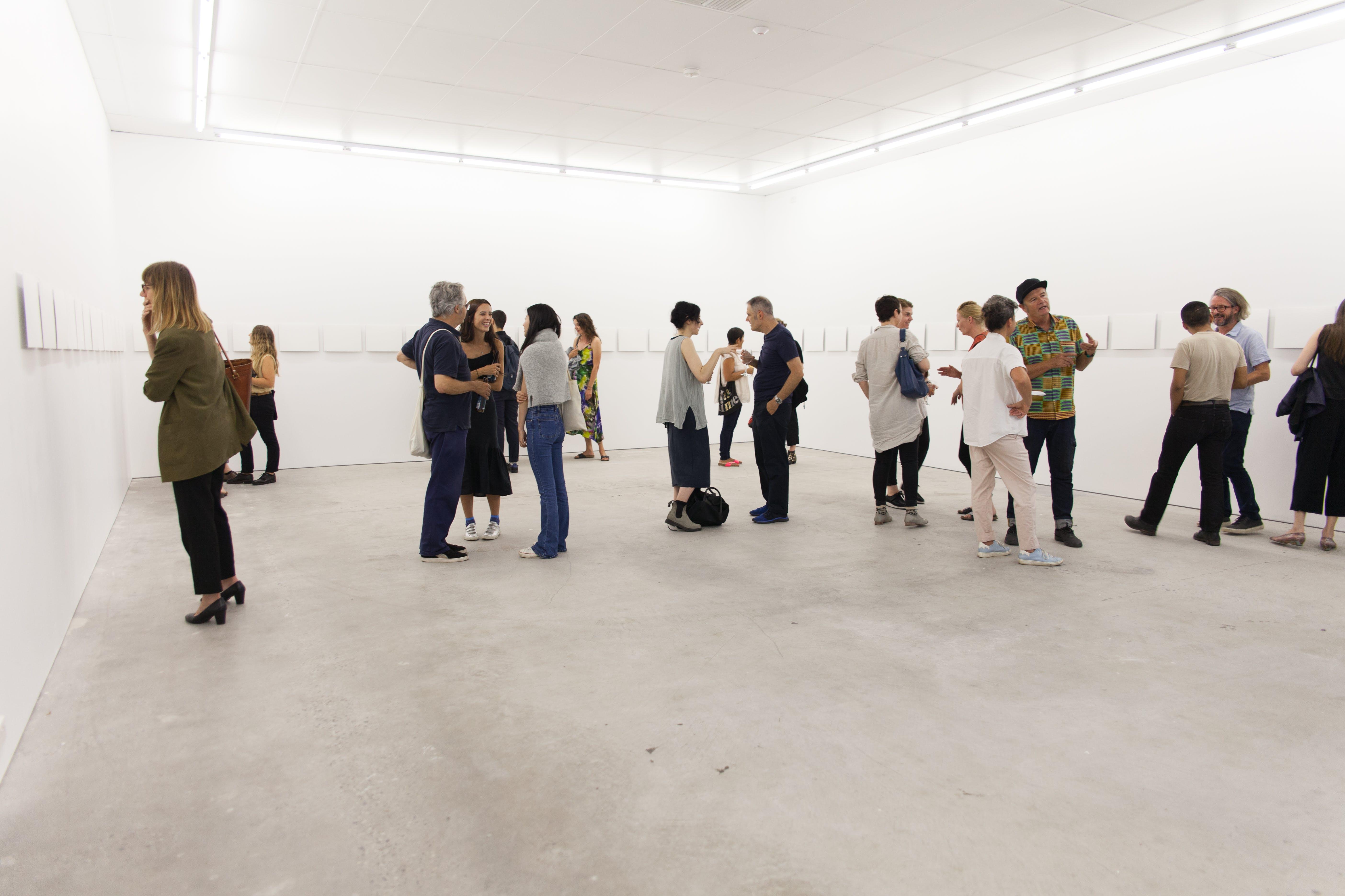 Visitors enjoying Sangeeta Sandrasegar, It's Like That, 2018 at Gertrude Contemporary. Photo by Daniel Gardeazabal.