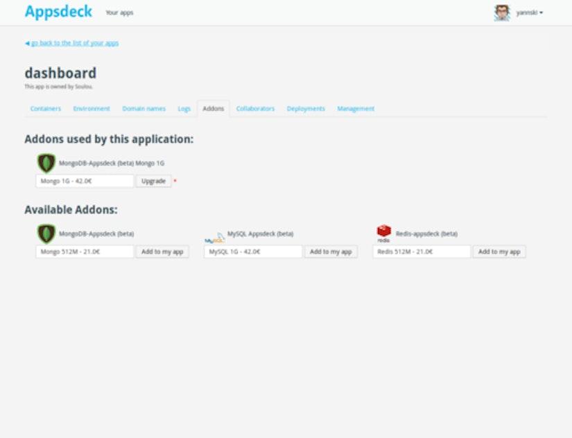 Addons screenshot