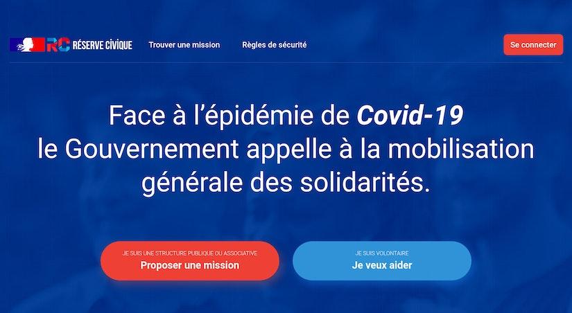 Le site de la Réserve Civique Covid19