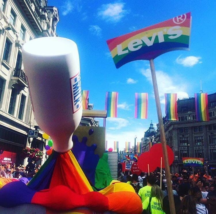 Levis Pride Floats and installations