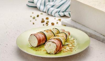 Involtini di zucchine con prosciutto e Mustia