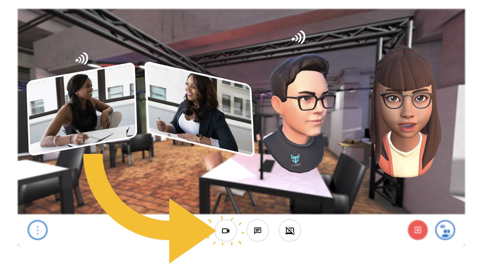 Scena 360 Ready Player Me Avatars Virtual Video Call