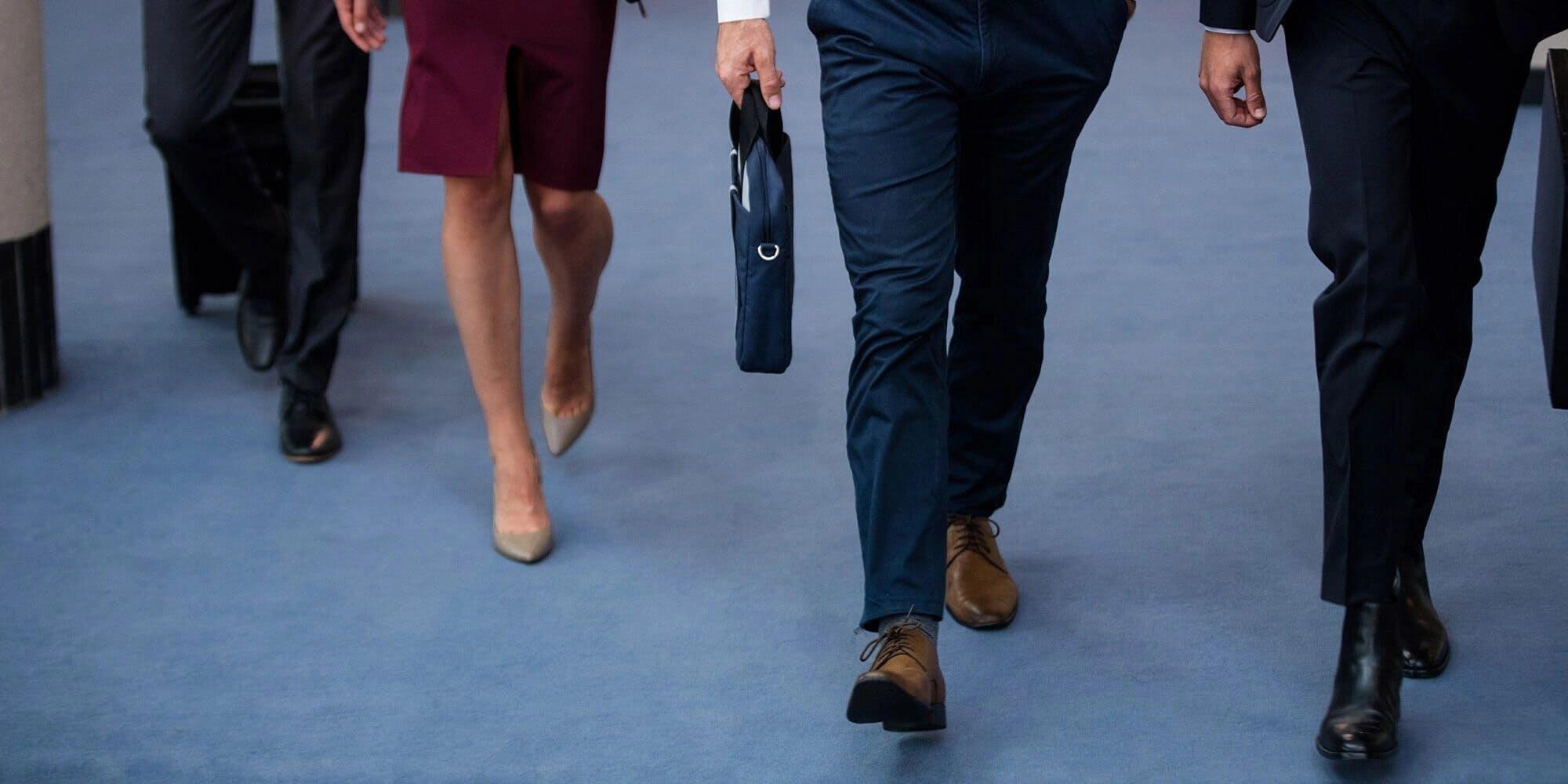 legs of people walking