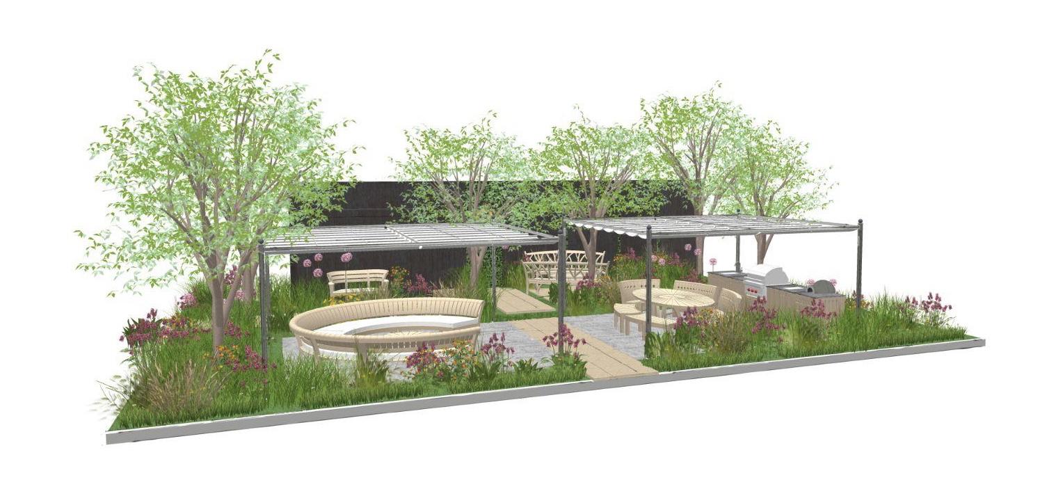 Gaze Burvill's stand design at 2021 Chelsea Flower Show