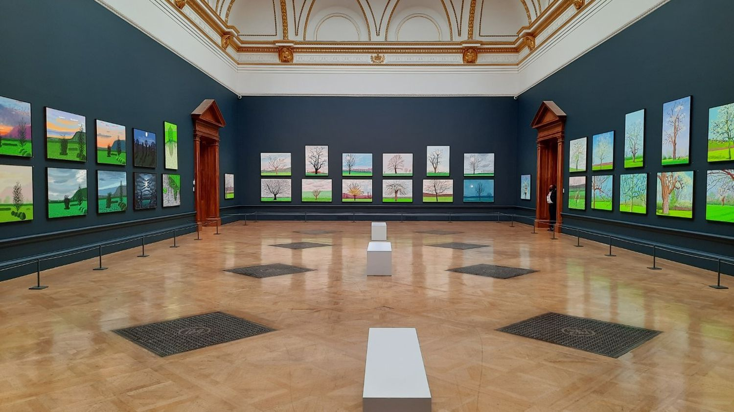 David Hockney: The Arrival of Spring, Normandy, 2020 at the Royal Academy of Arts