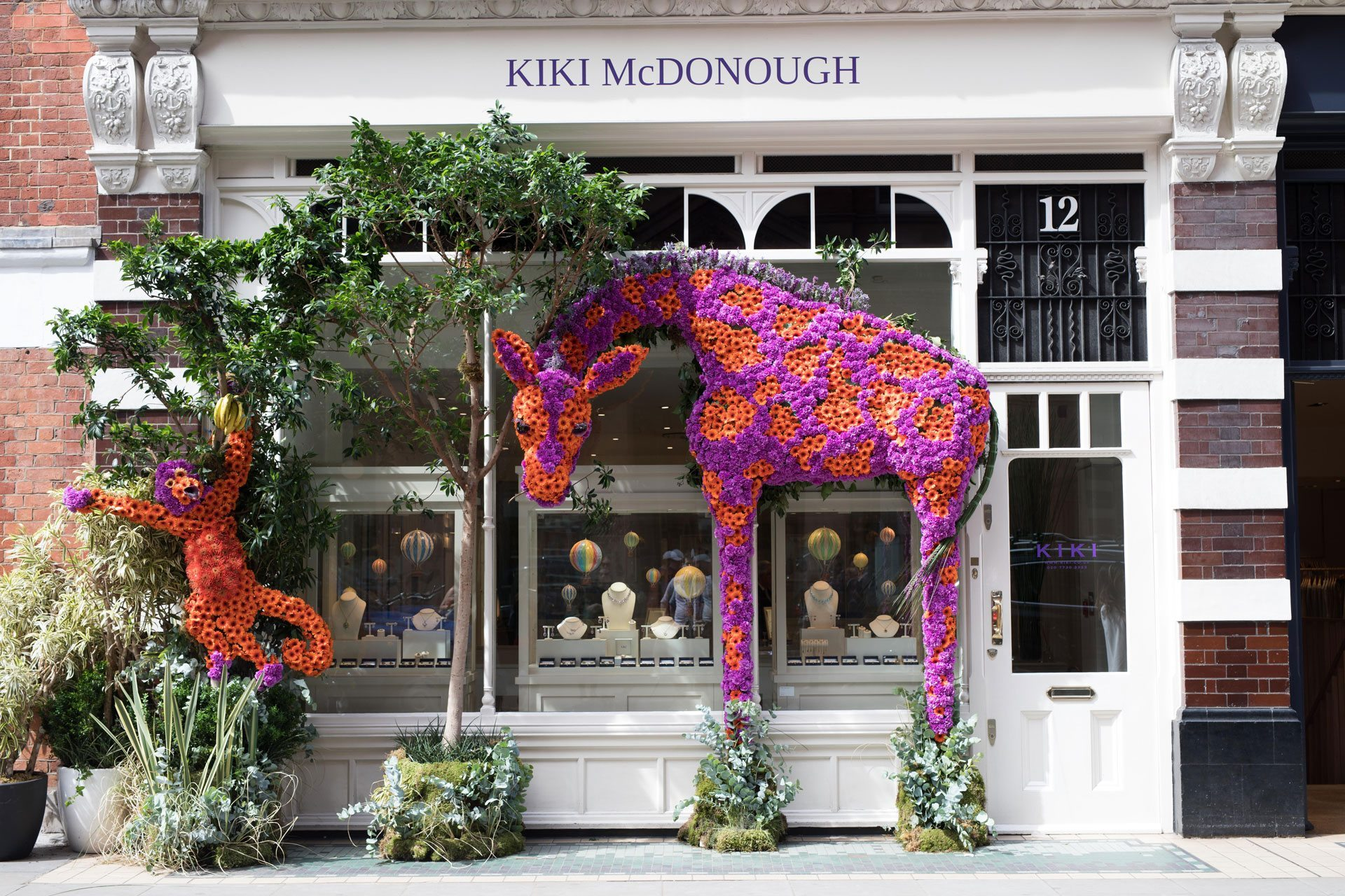 One of Chelsea In Bloom's many floral displays