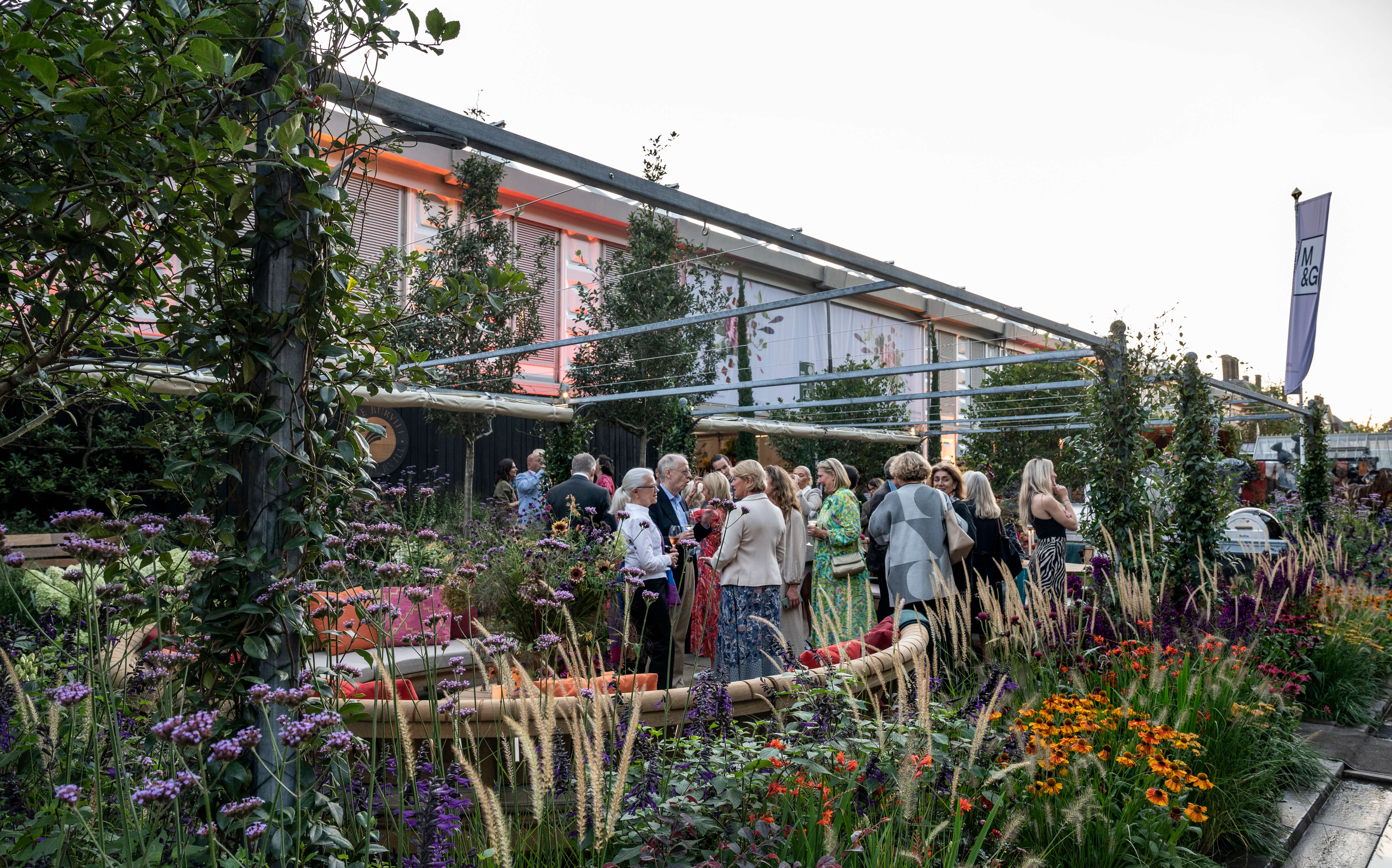 Auriens drinks at Chelsea Flower Show
