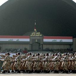 رژه نظامی در صدمین سالگرد تأسیس ارتش عراق در بغداد، ۱۷ دی ۱۳۹۹/ ۶ ژانویه ۲۰۲۱ (عکس از گتی ایمیجز)