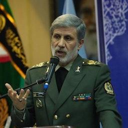 Iran's Defense Minister Brig. Gen. Amir Hatami, Tehran, Iran, May 18, 2020. (Photo via IRNA News Agency)